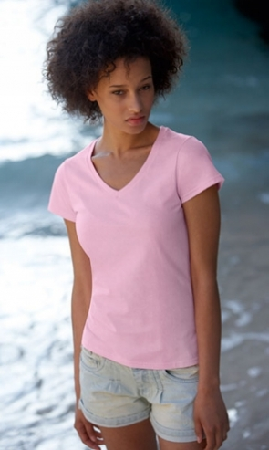 Lady-Fit Value Weight V-Neck T