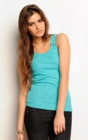Ladies 2x1 Rib Tank Top